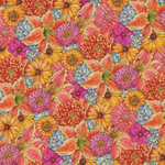 K and Company - Cottage Garden Collection by Tim Coffey - 12 x 12 Paper with Glitter Accents - Mixed Floral