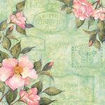 K and Company - Spring Blossom Collection - 12 x 12 Paper with Glitter Accents - Camelia