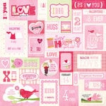 K and Company - Valentine Collection - 12 x 12 Paper with Foil Accents - Valentine Sampler