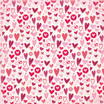K and Company - Valentine Collection - 12 x 12 Paper - Dancing Hearts