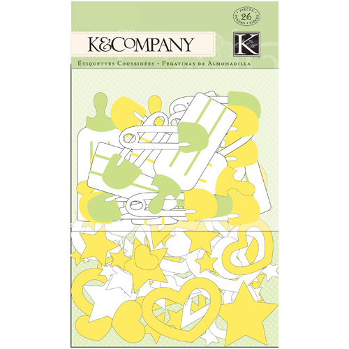 K and Company - Animal Tales Collection - Glitter Foam Stickers - Star and Heart