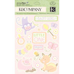 K and Company - Animal Tales Collection - Grand Adhesions with Gem and Glitter Accents - Baby Girl