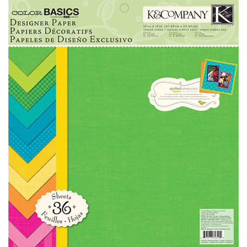 K and Company - Color Basics Collection - 12 x 12 Designer Paper Pad - Radiant