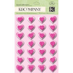 K and Company - Valentine Collection - Grand Adhesions - Foil Hearts