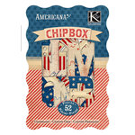K and Company - Americana Collection - Chipboard Box with Foil Accents - Alphabet, BRAND NEW