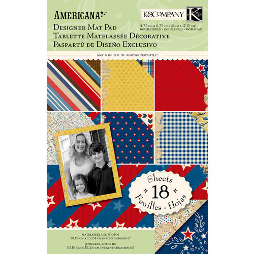 K and Company - Americana Collection - Designer Mat Pad