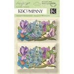 K and Company - Botanical Collection - Layered Accents with Glitter and Gem Accents - Flower