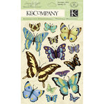 K and Company - Botanical Collection - Grand Adhesions with Gem and Glitter Accents - Butterfly