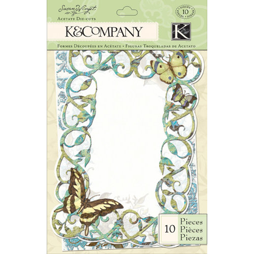 K and Company - Botanical Collection - Acetate Frames with Glitter Accents
