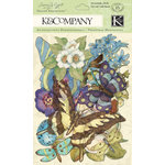 K and Company - Botanical Collection - Die Cut Cardstock and Acetate Pieces with Foil Accents