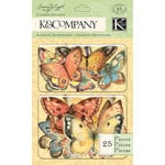 K and Company - Nature Collection - Layered Accents with Glitter Accents - Butterfly
