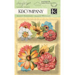 K and Company - Nature Collection - Layered Accents with Glitter Accents - Flower