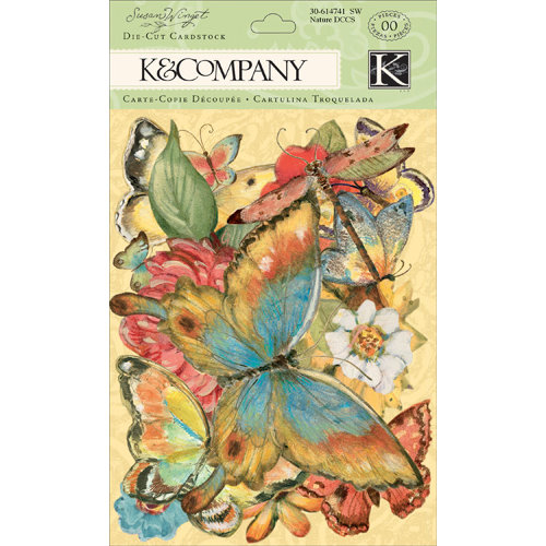 K and Company - Nature Collection - Die Cut Cardstock Pieces with Glitter Accents