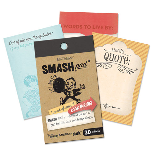 K and Company - SMASH Collection - Journaling Tag Pad - Word of Mouth
