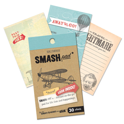 K and Company - SMASH Collection - Journaling Tag Pad - Travel