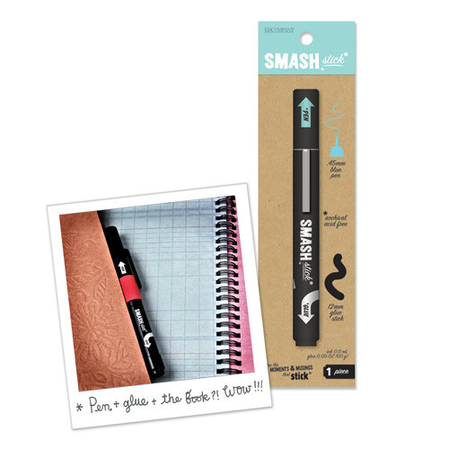 K and Company - SMASH Collection - Pen and Glue Stick - Blue
