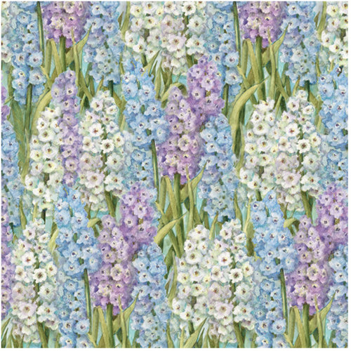 K and Company - Botanical Collection - 12 x 12 Paper with Glitter Accents - Hyacinth