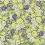 K and Company - Botanical Collection - 12 x 12 Paper with Glitter Accents - Bouquet