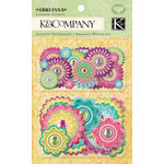 K and Company - Abrianna Collection - Layered Accents with Gem Accents - Medallion
