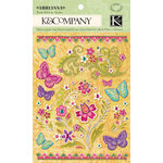 K and Company - Abrianna Collection - Rub Ons - Floral