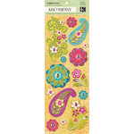 K and Company - Abrianna Collection - Adhesive Chipboard with Gem and Glitter Accents - Icon