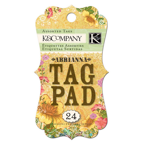 K and Company - Abrianna Collection - Tag Pad