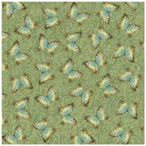 K and Company - Nature Collection - 12 x 12 Paper with Foil Accents - Moth