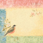 K and Company - Nature Collection - 12 x 12 Paper - Robin Nest