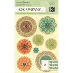 K and Company - Engraved Garden Collection - Grand Adhesions - Medallion