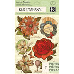 K and Company - Engraved Garden Collection - Grand Adhesions - Floral
