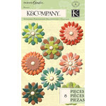K and Company - Engraved Garden Collection - Flower Brads