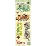 K and Company - Engraved Garden Collection - 3 Dimensional Stickers Medley - Word