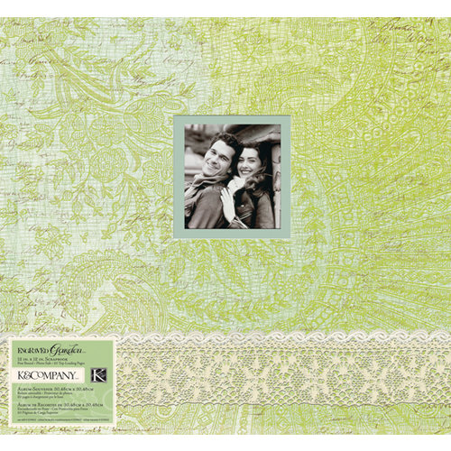 K and Company - Engraved Garden Collection - 12 x 12 Scrapbook Album - Lace