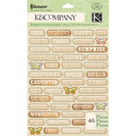 K and Company - Edamame Collection - Pillow Stickers - Word