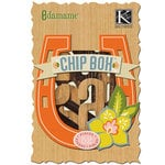 K and Company - Edamame Collection - Chipboard Box - Alphabet