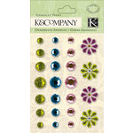 K and Company - Watercolor Bouquet Collection - Adhesive Gems