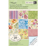 K and Company - Watercolor Bouquet Collection - Adhesive Paper Pad