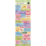 K and Company - Watercolor Bouquet Collection - Embossed Stickers with Varnish Accents - Word