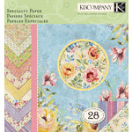 K and Company - Watercolor Bouquet Collection - 12 x 12 Specialty Paper Pad