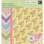 K and Company - Watercolor Bouquet Collection - 12 x 12 Designer Paper Pad