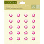 K and Company - Studio 112 Collection - Adhesive Gems - Pink Circle