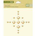K and Company - Studio 112 Collection - Adhesive Gems - Gold Diamond