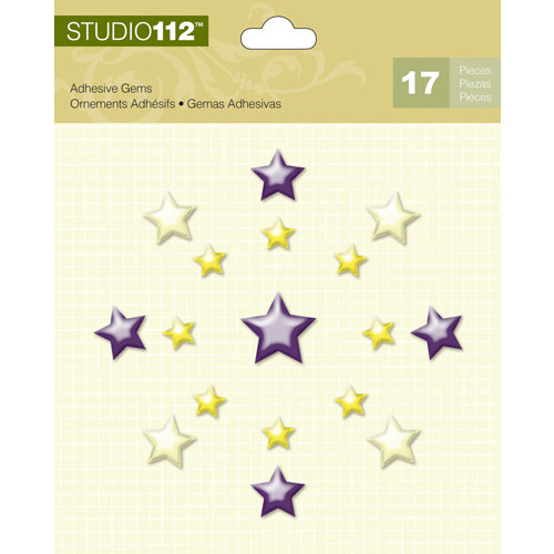 K and Company - Studio 112 Collection - Adhesive Gems - Stars