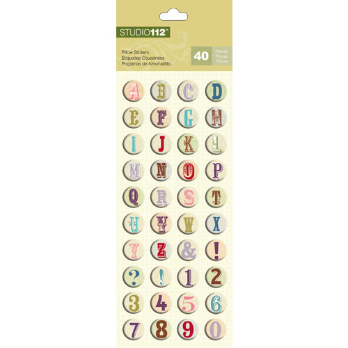 K and Company - Studio 112 Collection - Pillow Stickers - Alphabet