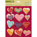 K and Company - Studio 112 Collection - 3 Dimensional Stickers - Heart