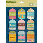 K and Company - Studio 112 Collection - 3 Dimensional Stickers - Tag