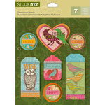 K and Company - Studio 112 Collection - 3 Dimensional Stickers - Birds Shape