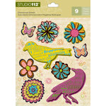 K and Company - Studio 112 Collection - 3 Dimensional Stickers - Nature Shape