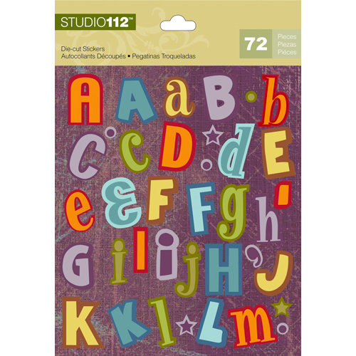 K and Company - Studio 112 Collection - Die Cut Stickers with Foil Accents - Alphabet