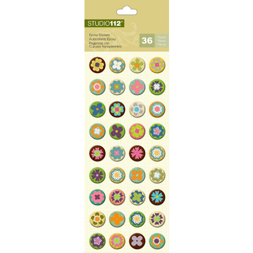 K and Company - Studio 112 Collection - Epoxy Stickers - Flower